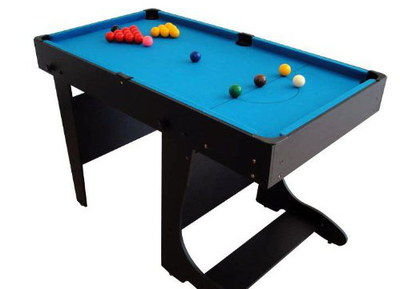 Collapsing Style Snooker Pool Table With Black Supports