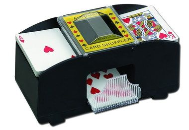 Pull Out Ledge Quiet Card Shuffler In Black