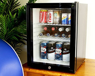 Frostbite Glass Quiet Mini Bar With Lock And Black Frame