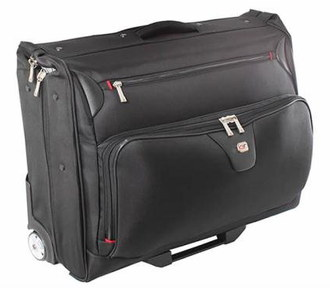Garment Bag With Wheels In Black Exterior