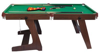 Foldable Style Modern 6ft Pool Table In Brown Finish