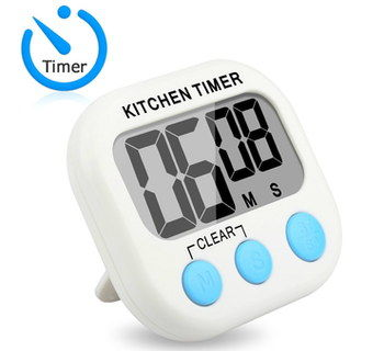 Audible Kitchen Cooking Timer In White