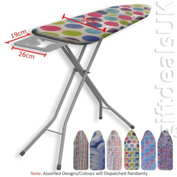 Highlands Adjustable Large Wide Ironing Board In Bright Colours