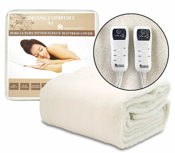 Double De-Luxe Fleece Mattress Cover With Remote Control