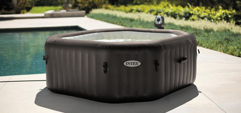 Bubble Hot Tub In Black