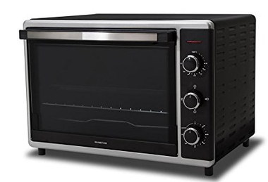 Small Countertop Convection Oven In Black Finish