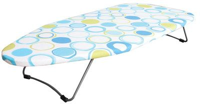 Table Top Fold Up Iron Board With Multi Colour Cover