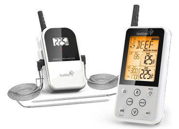 Probe Wi-Fi Thermometer In White And Grey