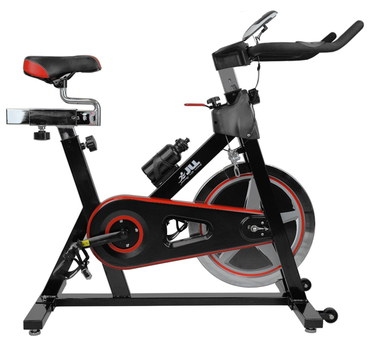 Heavy Duty Exercise Bike In Black And Red