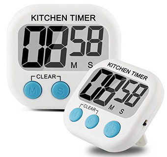 Magnetic Kitchen Timer Alarm With Blue Buttons