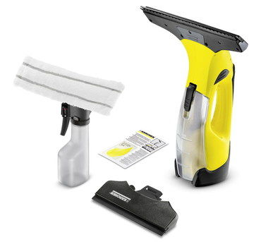 Cordless Window Vacuum In Black And Yellow