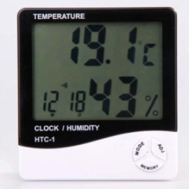 LCD Temperature Calendar Humidity Meter With Big Digits
