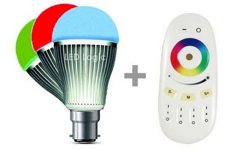Remote Control Colours Bulb In Red, Green And Blue