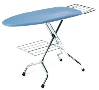 Lelit PA060 Large Chromium Ironing Board With 4 Metal Legs
