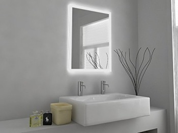 MMDesign LED Bathroom Mirror Light With White Sink