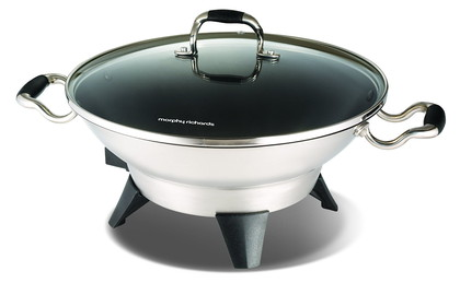 Precision Large Wok With Lid With 3 Handles