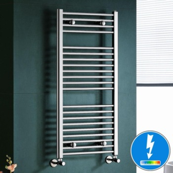 Electric Heated Towel Rail For Bathrooms In Polished Chrome