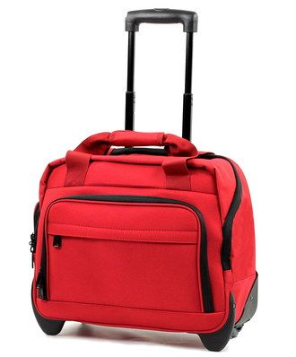 Members Business Laptop Roller Bag In Vibrant Red
