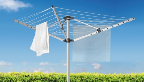 Metaltex Outdoor Rotary Clothes Airer With Blue Sky