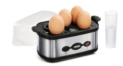 New Princess Automatic Egg Boiler In Black And Steel Effect