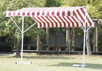 Outsunny Free Stand Awning For Home In Stripes