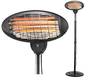 Quartz Electric Outdoor Patio Heater In Black