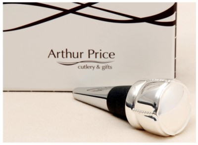 Present Day A.Price Silver Champagne Bottle Stopper With White Box