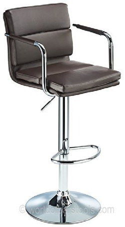 Versatile Metal Bar Stool With Back Rest In Black Finish