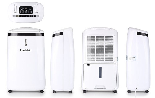 Quiet Compact Mobile Dehumidifier In All White Finish