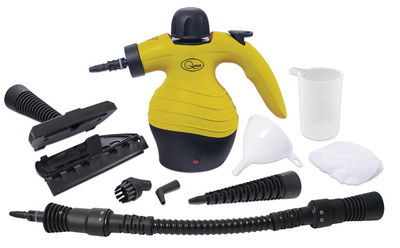 Handheld Steam Cleaner For Upholstery With 9 Black Add-On's