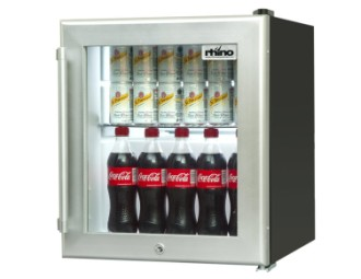 Rhino COLD430CT Mini Fridge With Lock And Silver Door