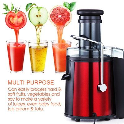 High Power 800W Fast Extraction Juicer With Drinks Glasses