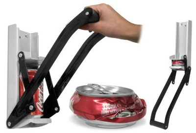 Sentik Sturdy Heavy Duty Beer Can Crusher With Black Handle