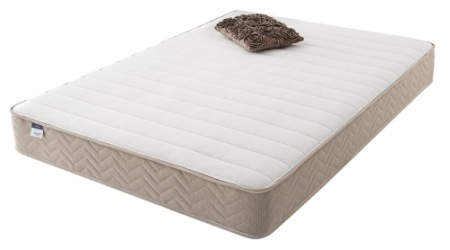 foam mattress and brown cushion silentnight seoul super king size mattress