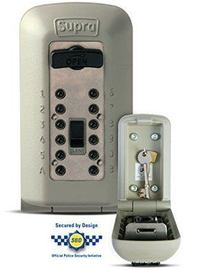 Supra Police Authorised Lockable Key Box With Black Buttons