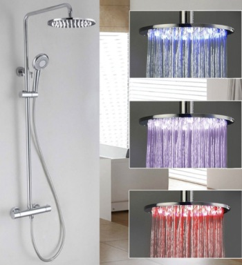 UK TapStore Contemporary LED Shower Head In Chrome Effect