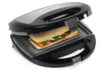 Ceramic Sandwich Toaster With Open Lid
