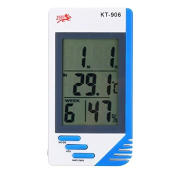 Trait-Tech LCD Temperature Humidity Meter In Blue Casing