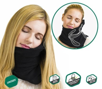Travel Pillow For Airplanes In Black Material