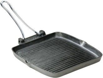 Square Cast Iron Grill Pan In All Black