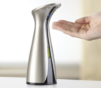 Nickel Steel Soap Dispenser With Hand Over Spout