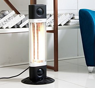 Free Standing Small Patio Heater In Black And White
