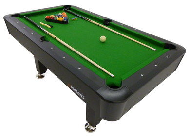 6 Foot Fashionable Home Pool Table With Balls In Triangle