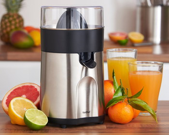 VonShef Premium Fresh Orange Juice Machine With Sliced Lemons