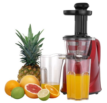 Pro Slow Masticating Fruit Juicer With Fresh Oranges