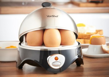 VonShef Quality Electric Egg Cooker With Steel Cover