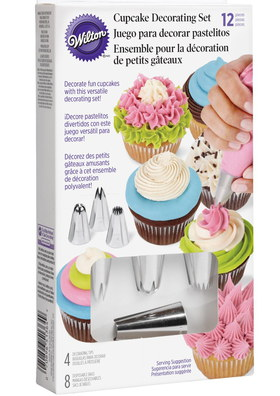 Wilton 12 Piece Fairy Cake Cupcake Icing Kit In Box