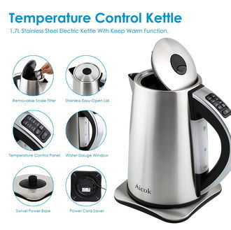 Heat Controlled Quick Boil Kettle With Round Handle