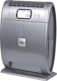 3 Speed Aironic 40W Air Purifier For Dust In Silver Effect