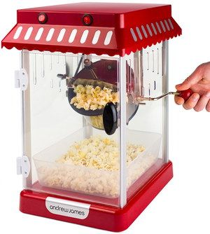 300W Popcorn Machine Home Use With Side Handle